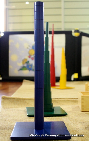 Montessori Knobless cylinders towers