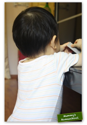 Mummy's Homeschool Jae 1 year old
