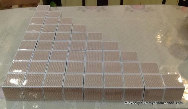 Montessori Mathematics Golden Thousand Cubes 45