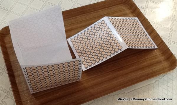 Montessori Mathematics Golden Thousand Cubes folding