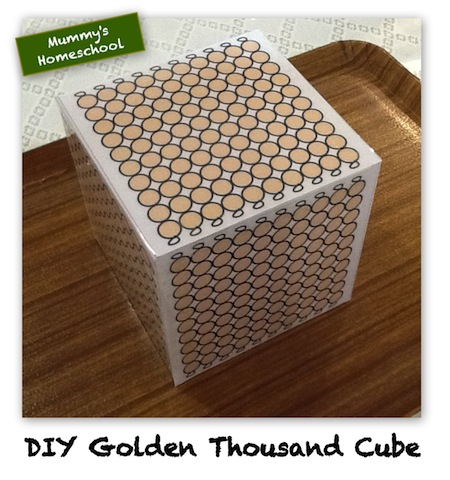 Montessori Mathematics Golden Thousand Cube