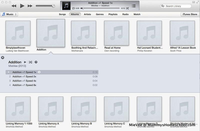 Shichida Speed Reading iTunes Screen Addition +1