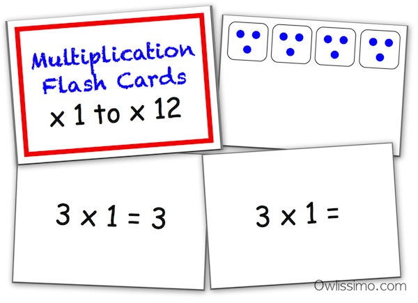 multiplication falsh cards
