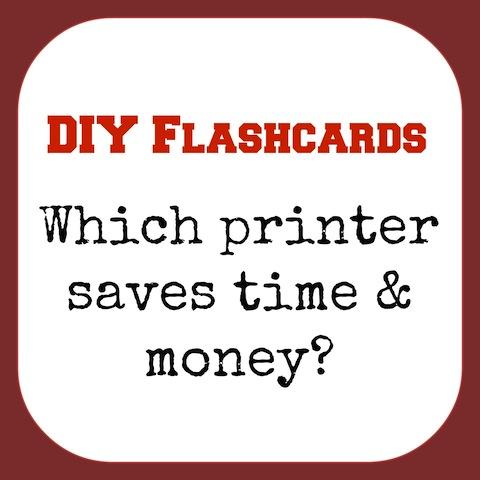 flash cards printer - saves LOTSA time & money