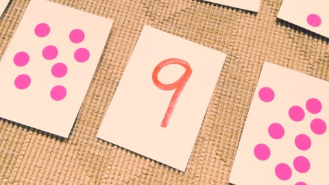 dot stickers and numerals