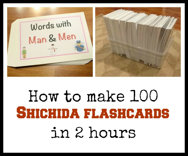How to make 100 Shichida flashcards in 2 hours