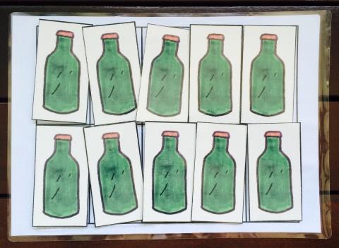 math dot practice green bottles