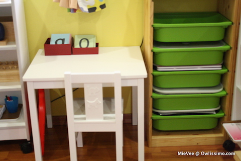 Montessori homeschool room-010