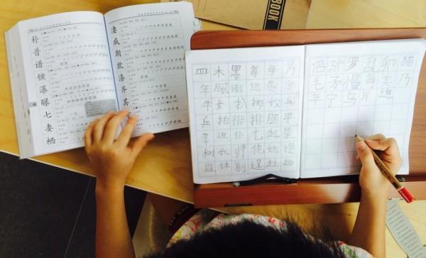 vee chinese writing