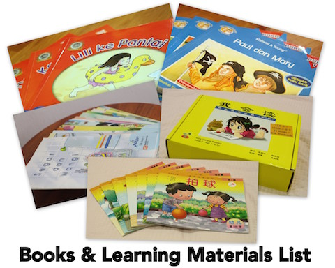 Books & Learning Materials List
