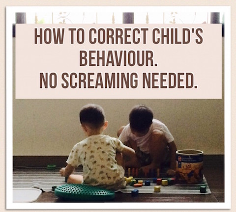 Correct child's behaviour, no screaming needed
