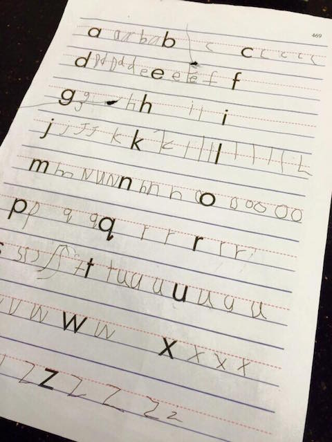 4yo writing