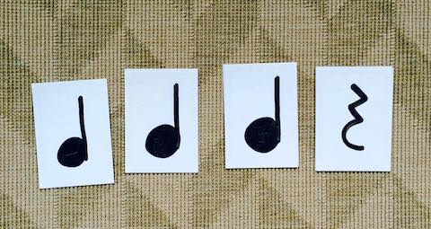musical notes cards