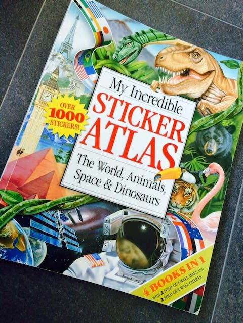 sticker atlas book