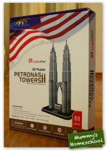 3D Puzzle Petronas Twin Towers box