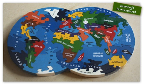 Alphabet Jigsaws world map