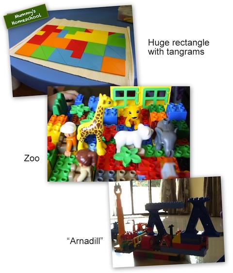 Vee turns 3 years 6 months old tangrams lego