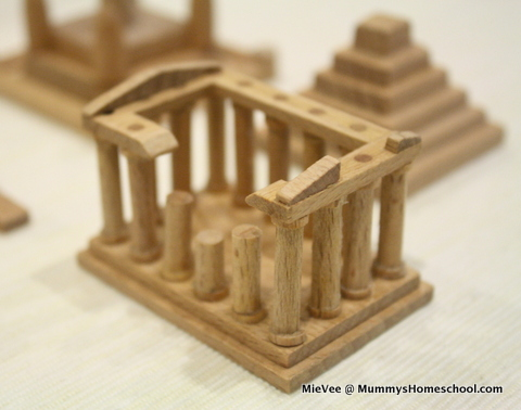 Muji World Heritage wooden minatures
