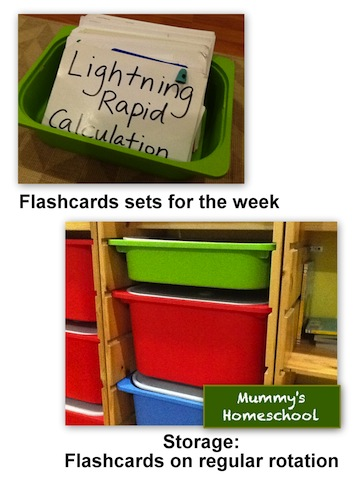 Mummy's Homeschool - How to make Shichida flashcards regular storage