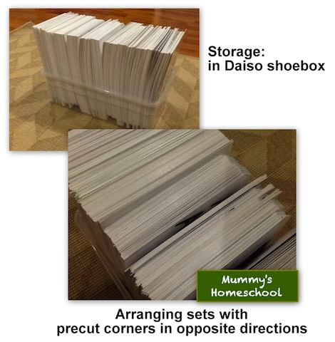 Mummy's Homeschool - How to make Shichida flashcards storage