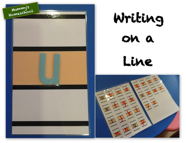 Montessori Language Writing on a Line