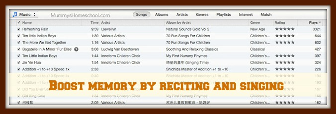 Boost memory by reciting and singing