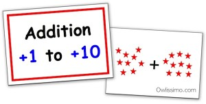 Owlissimo addition flash cards