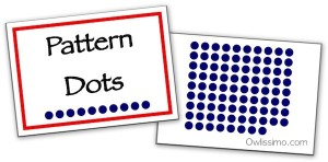 Owlissimo pattern dot flash cards