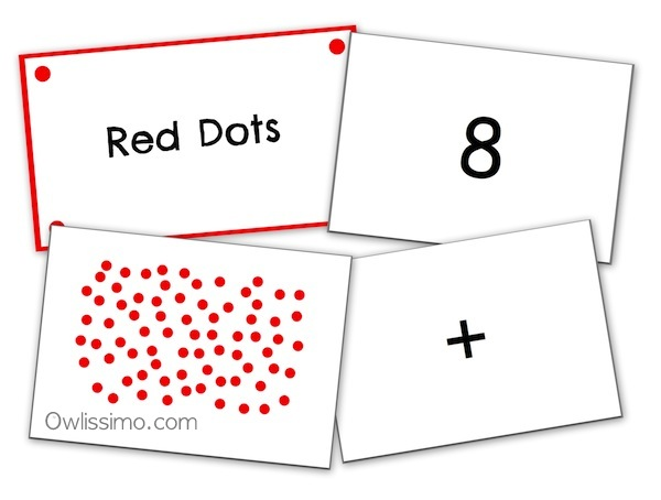Flash cards math random dot