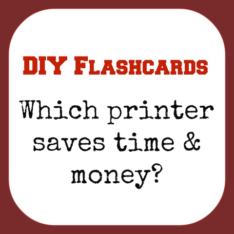 flash cards printer - saves LOTSA time & money