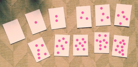 dot stickers on cards