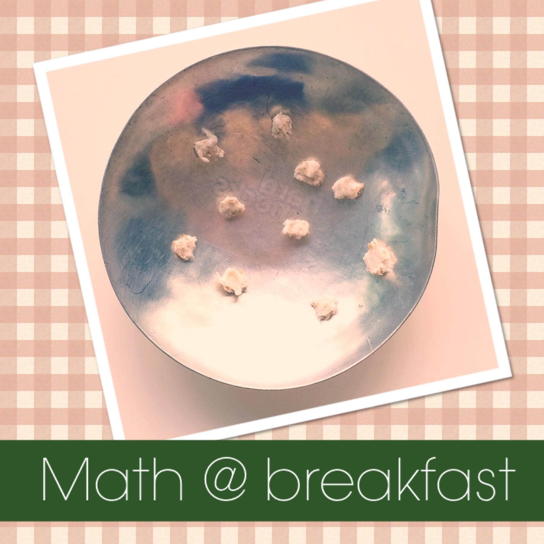 Right brain math at breakfast