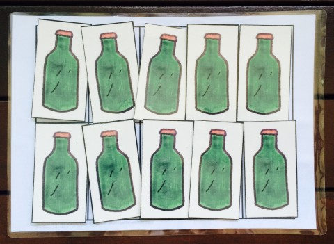 math dot practice green bottles
