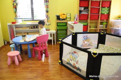 Shichida Montessori homeschool room