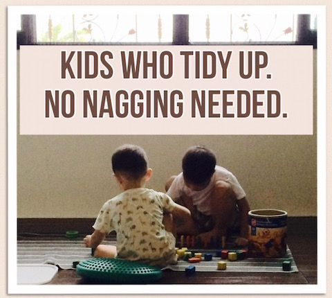 kids tidy up, no nagging needed