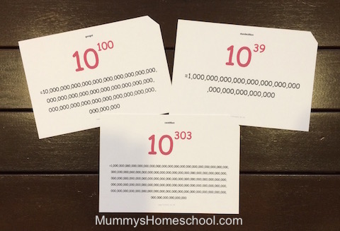 flash cards names of large numbers back