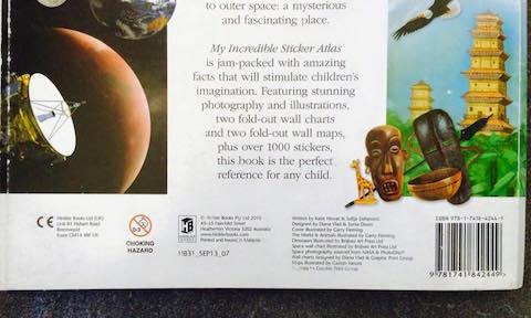 sticker atlas book ISBN