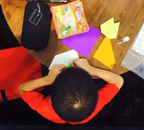 montessori concentration origami