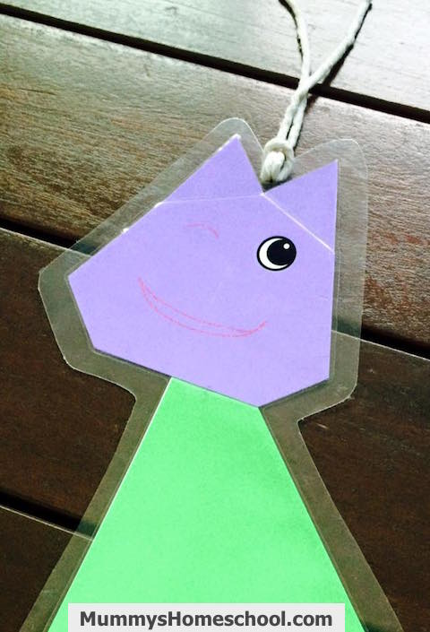 origami cat bookmark
