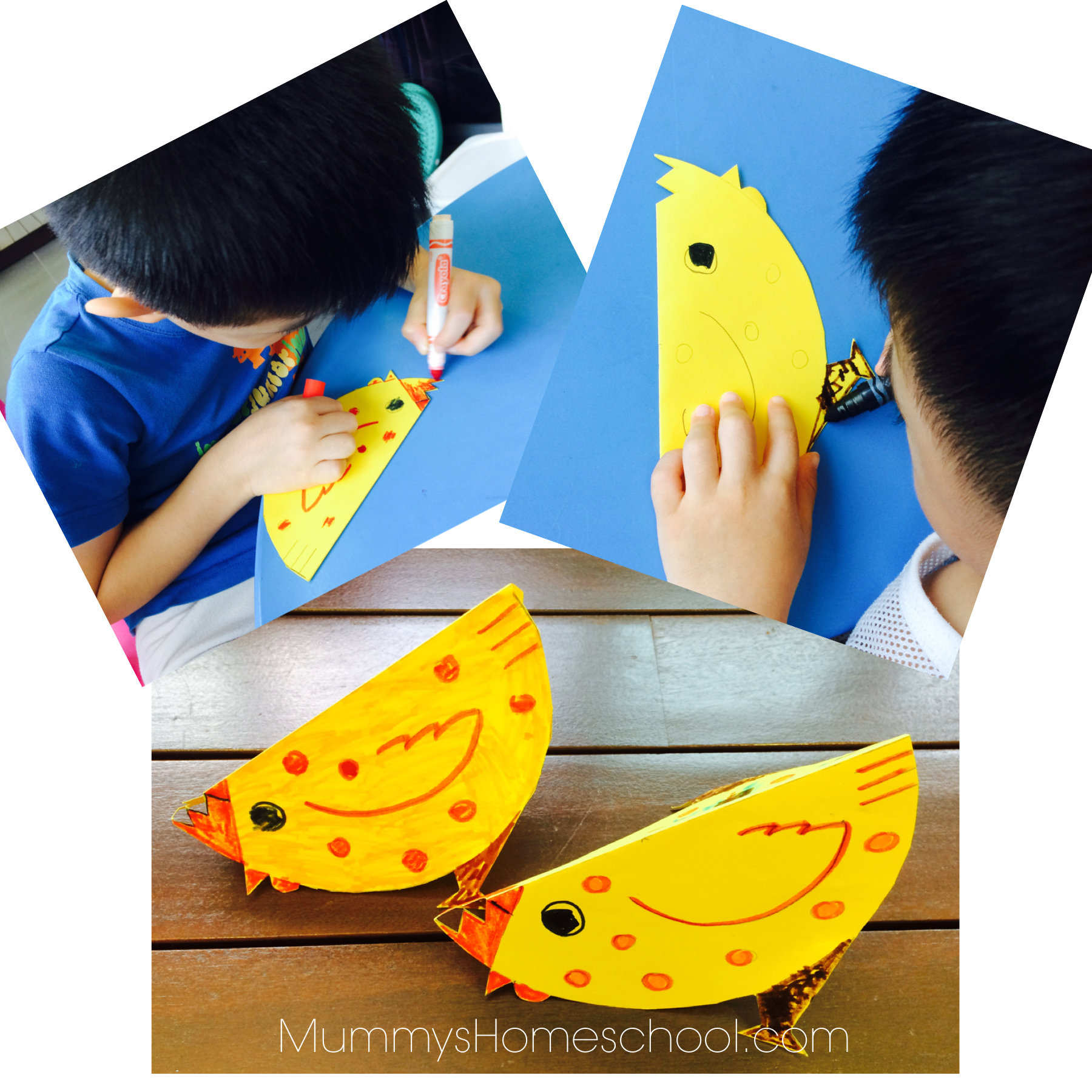 Lunar new year chicken craft