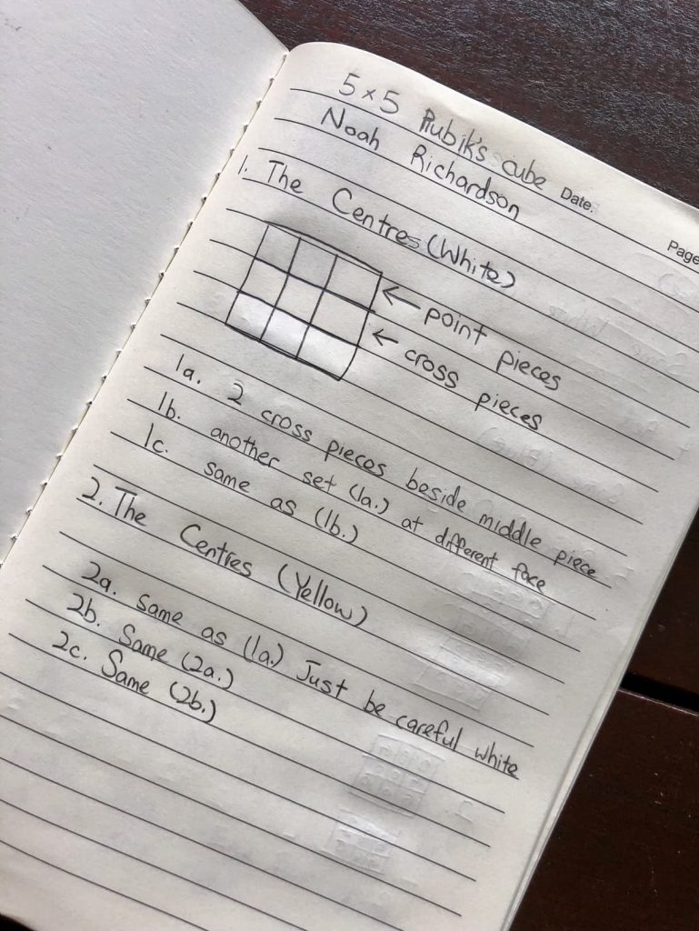 memory note-taking rubik's cube notes