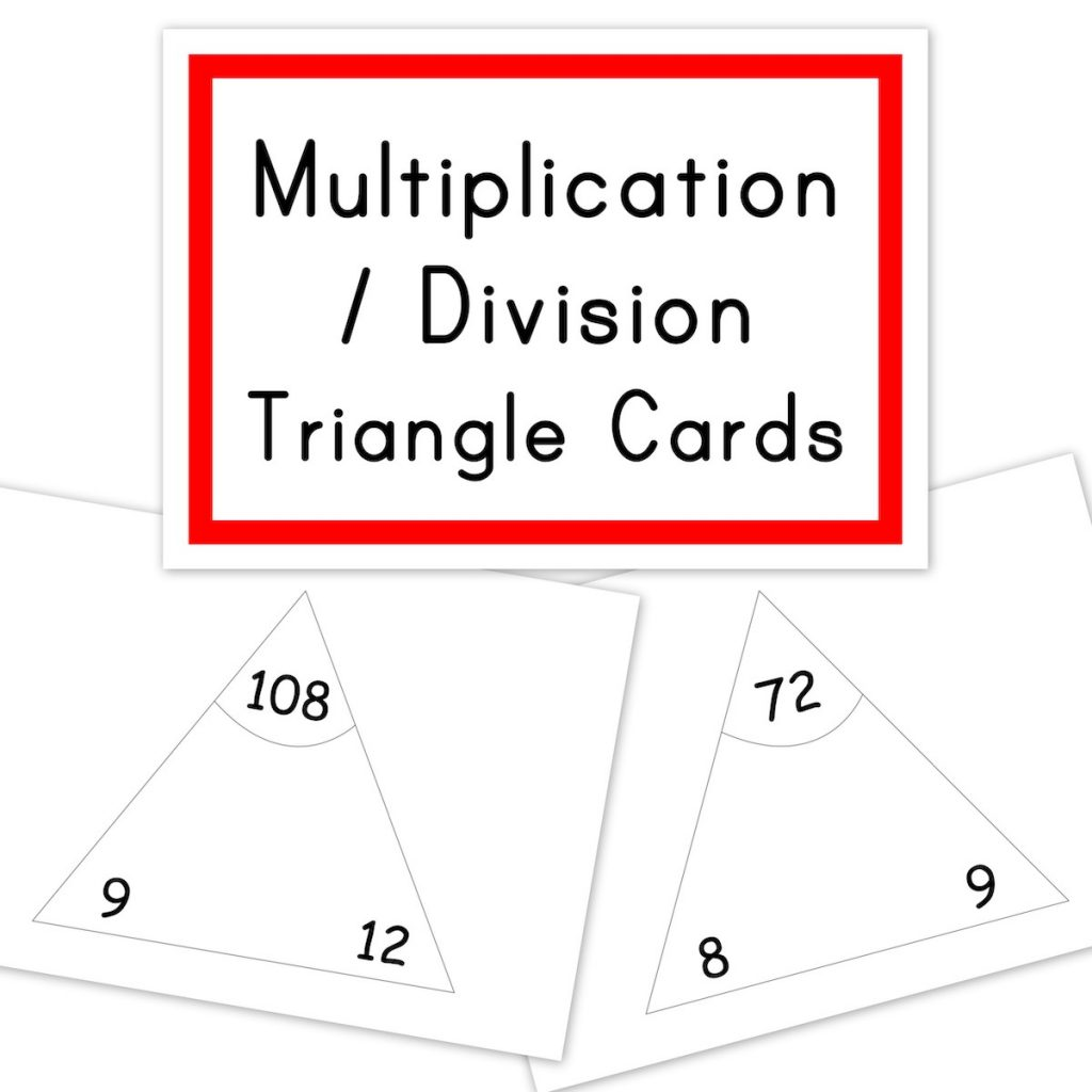 Mathematics - Multiplication Division triangle cards