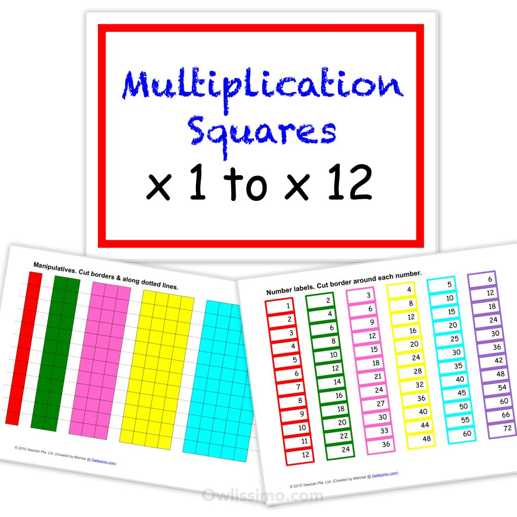 Multiplication Squares Product Cover