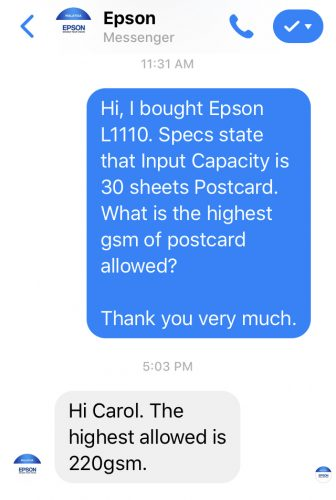 epson reply L1110