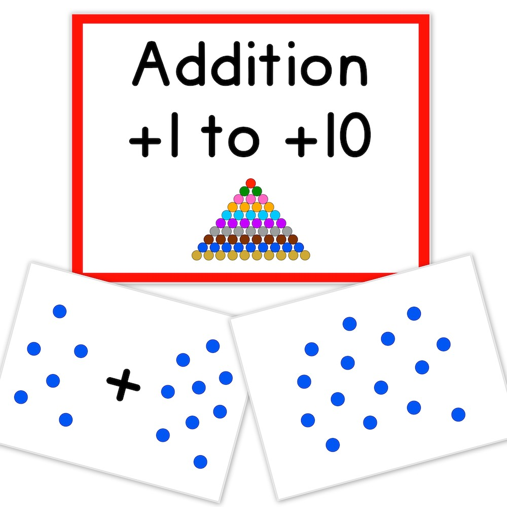 printable flashcards math addition dots product cover