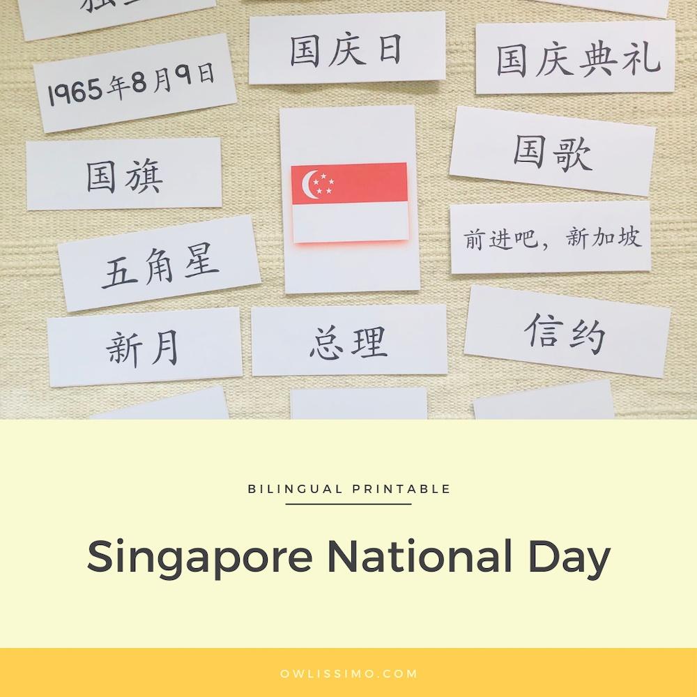 Singapore national day printable